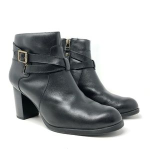 Sperry Black Leather Dasher Belle Ankle Booties